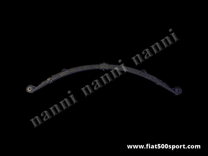 "Art. 0461 - Special reverse ""eye"" front 6 leaf spring assy for Fiat 500 Giardiniera. - Special reverse ""eye"" front 6 leaf spring assy for Fiat 500 Giardiniera. ( Made in Italy )."