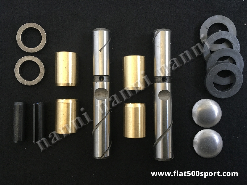 Art. 0463 - Revisione perni fusi Fiat 500 F L R con boccole in bronzo. - Revisione perni fusi Fiat 500 F L R con boccole in bronzo. Kit completo.