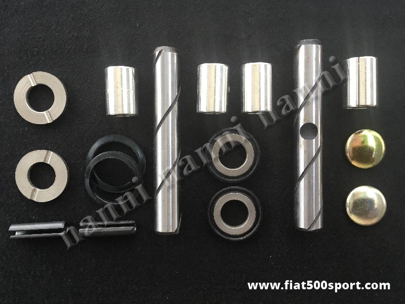 Art. 0464 - Revisione Fiat 126  perni fusi con boccole acciaio autolubrificante. - Revisione Fiat 126 dei perni fusi con boccole in acciaio  autolubrificante. Kit completo.