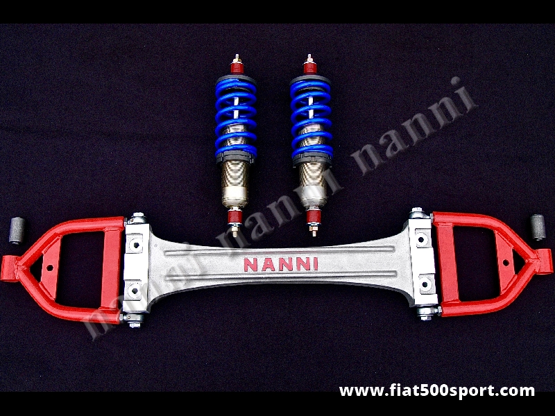 Art. 0479 - Fiat 500 Fiat 126 complete road front suspension kit. - Fiat 500 Fiat 126 complete road front suspension kit. ( with the mounting instructions and silentblocs) The springs of the shock absorbers are for a stradal use.