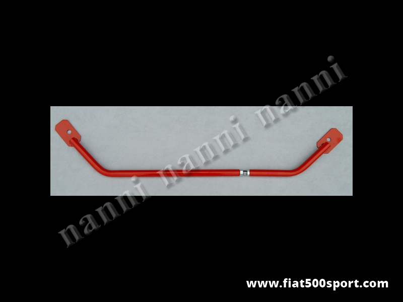 Art. 0480 - Strut brace steel Fiat 500 Fiat 126 NANNI with hardened resin paint finish and adjustable coupling. - Fiat 500 Fiat 126 NANNI steel strut brace with hardened resin paint finish and adjustable coupling.
