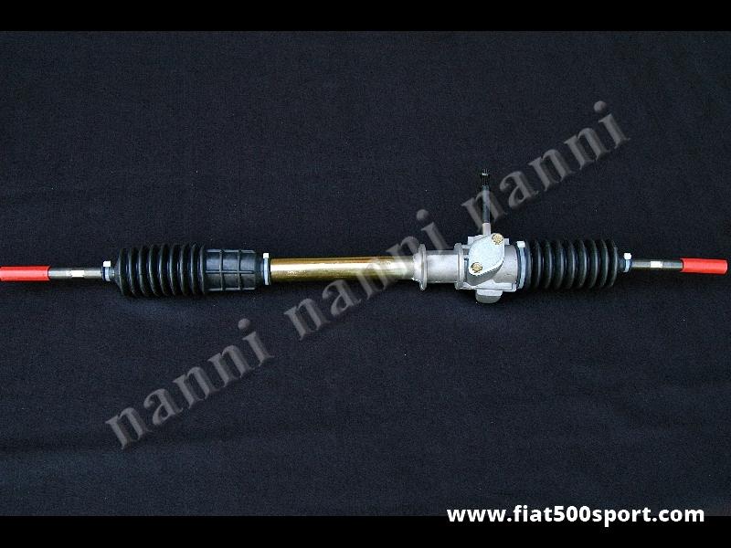 Art. 0489 - Scatola guida Fiat 126 Bis nuova. - Scatola guida Fiat 126 Bis NUOVA. Si può applicare alla Fiat 500 con i supporti ns. art.0492, piantone dello sterzo del 126 Bis e mozzo volante.