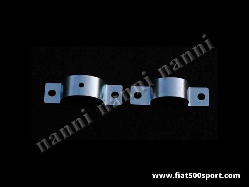 Art. 0497 - Staffe Fiat 126 per fissaggio scatola guida. - Staffe Fiat 126 per fissaggio scatola guida. Kit completo di 2 pezzi.