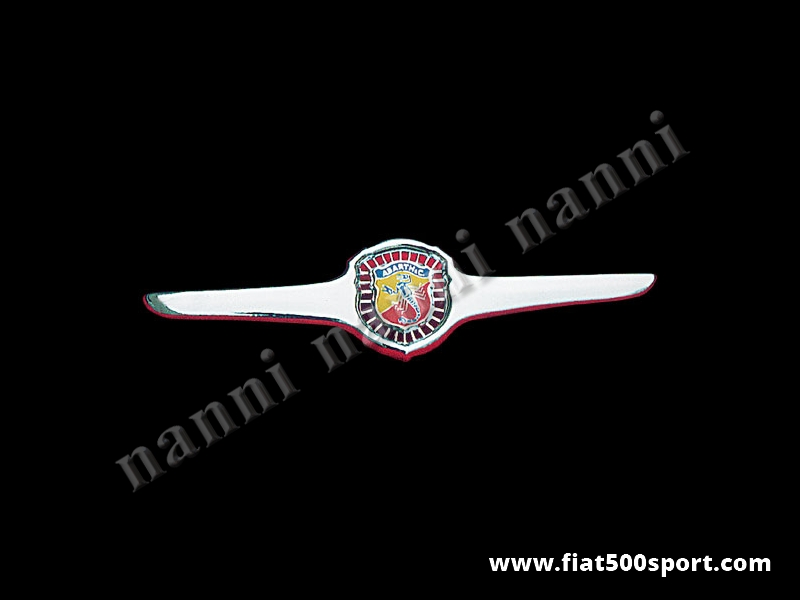 Art. 0500 - Fiat 500 D F Abarth original front grille chromed (open sun ray) - Fiat 500 D F Abarth original front grille chromed (open sun ray) with the rubber gasket.