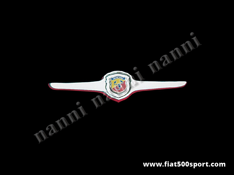 Art. 0501 - Fiat 500 L R Abarth original front grille chromed (closed sun ray) - Fiat 500 L R  Abarth original front grille chromed (closed sun ray) with the rubber gasket.