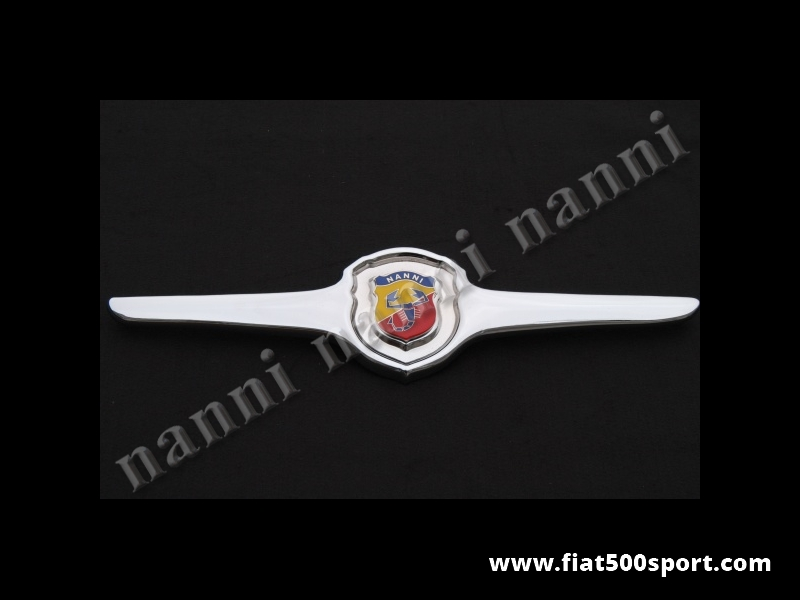 Art. 0501N - Fiat 500 F L R NANNI original front grille chromed. - Fiat 500 F L R NANNI original front grille chromed with the rubber gasket.