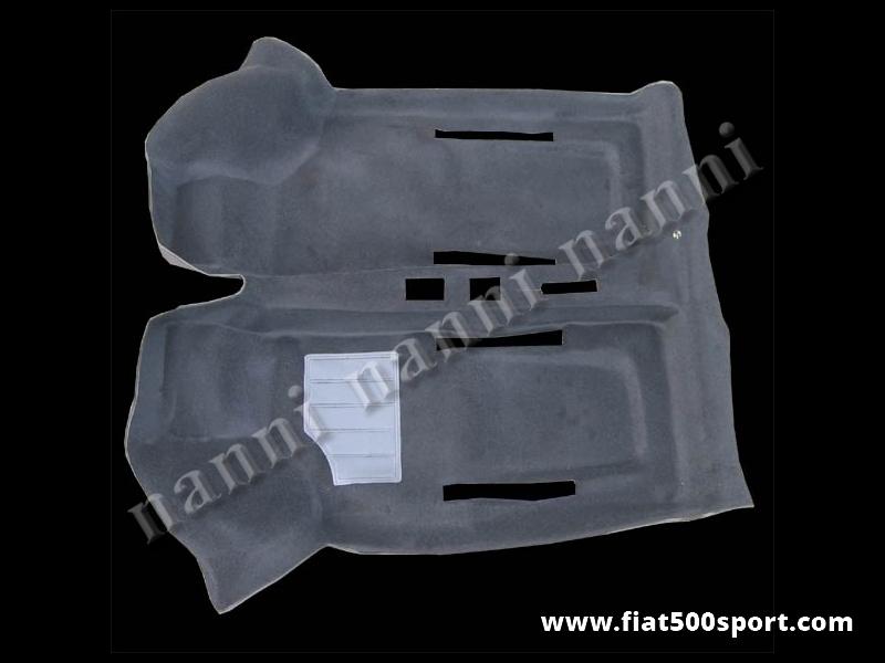 Art. 0508nero - Fiat 500 Fiat 126 black original moquette. - Fiat 500 Fiat 126 black original moquette.