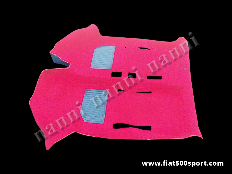 Art. 0508red - Fiat 500 Fiat 126 red original moquette. - Fiat 500 Fiat 126 red original moquette.