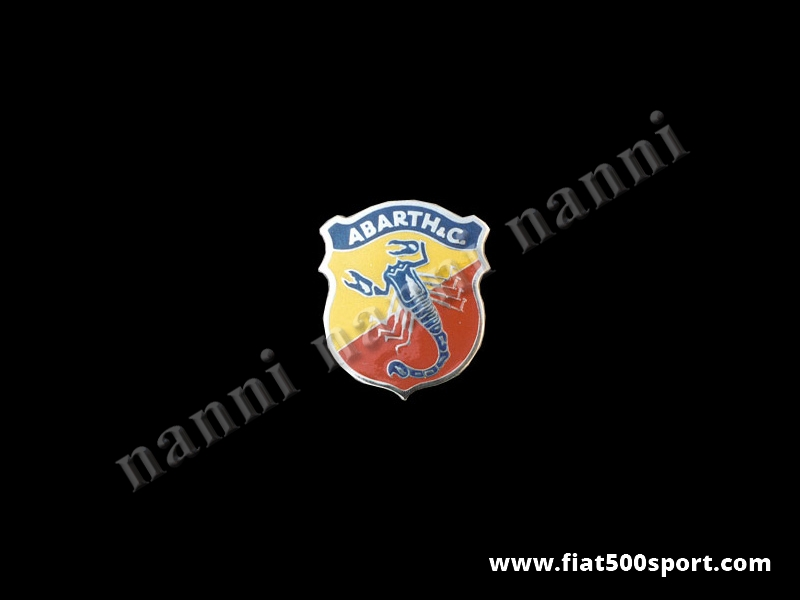 Art. 0510 - Abarth 595 Abarth 695 front enamel  emblem first series 70 mm high. - Abarth 595 Abarth 695 front enamel emblem first series 70 mm high.