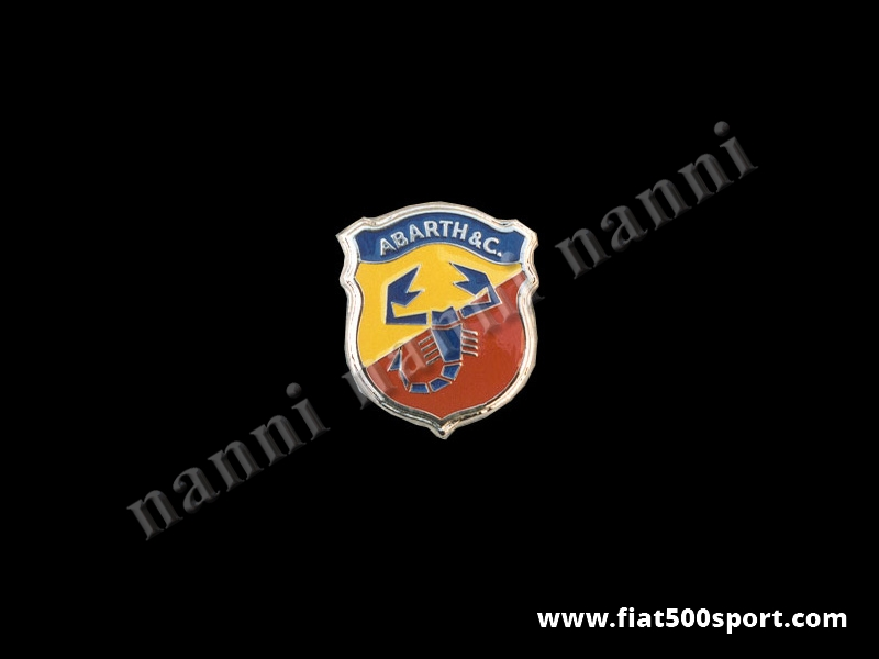 Art. 0511 - Abarth 595/695 front emblem second series 70 mm high, enamel. - Abarth 595/695 front emblem second series 70 mm high, enamel.