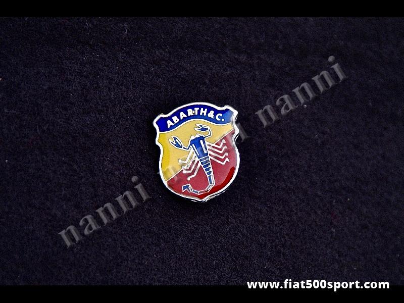 Art. 0519 - Abarth lapel big enamel emblem 28,5 mm high. - Abarth lapel big enamel emblem 28,5 mm high.