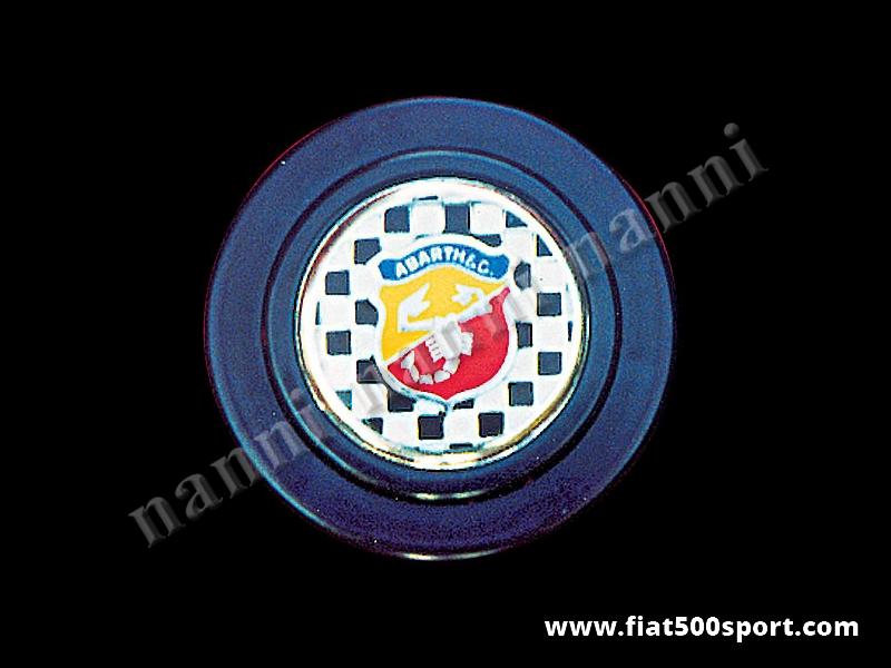 Art. 0524 - Abarth steering wheel horn push button. - Abarth steering wheel horn push button.