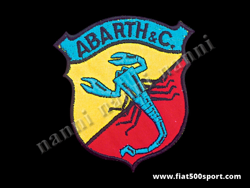 Art. 0527 - Full colour Abarth embroidered jacket patch h. 100 mm - Full colour Abarth embroidered jacket patch h. 100 mm