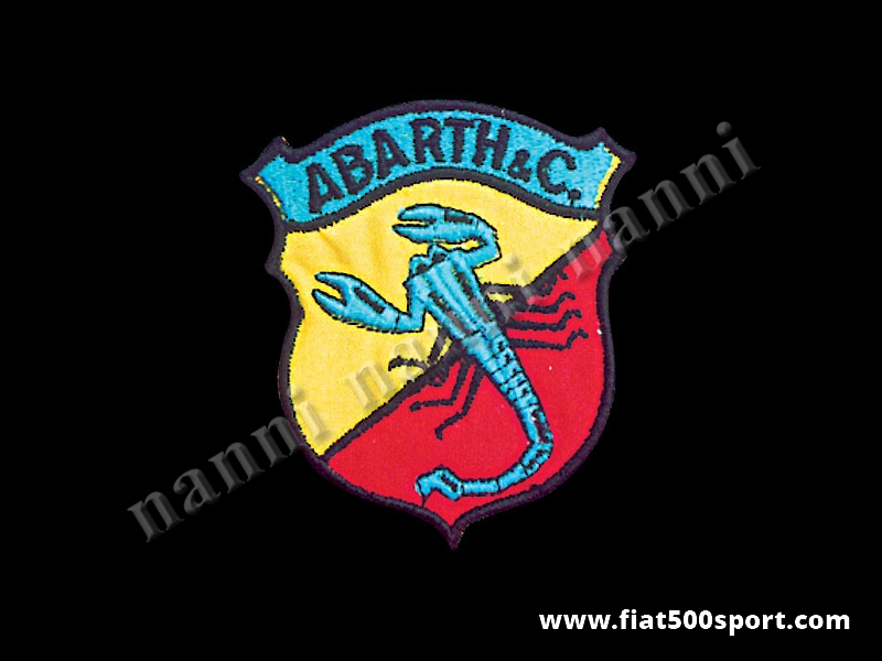 Art. 0528 - Full colour Abarth embroidered jacket patch h. 77 mm - Full colour Abarth embroidered jacket patch h. 77 mm