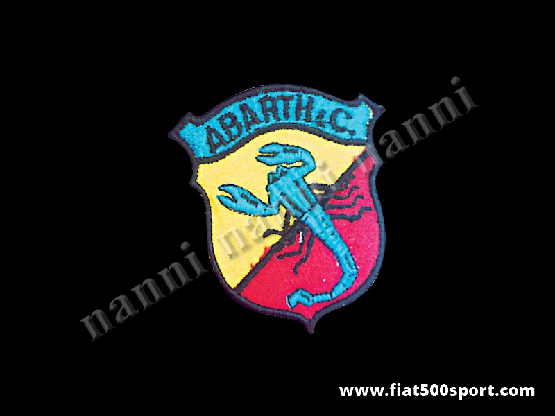 Art. 0529 - Full colour Abarth embroidered jacket patch h. 67 mm - Full colour Abarth embroidered jacket patch h. 67 mm