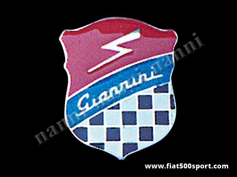 Art. 0535 - Stemma Giannini h. 72 mm in metallo smaltato a fuoco. - Stemma Giannini h. 72 mm in metallo smaltato a fuoco, con schermo protettivo.