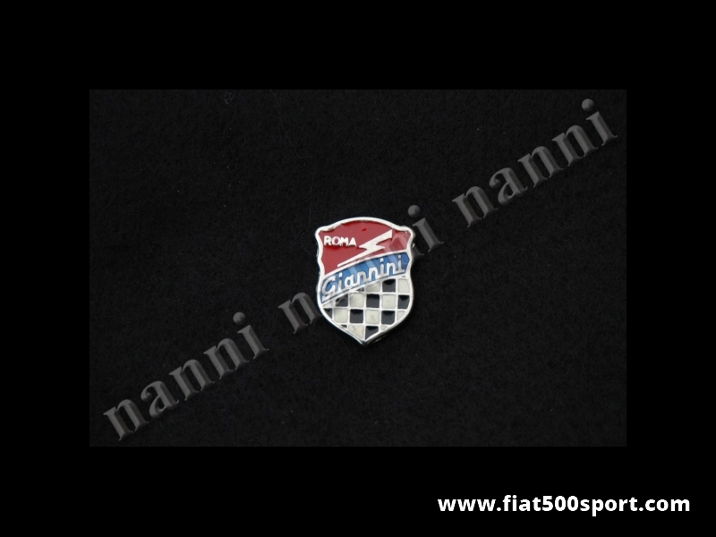 Art. 0536 - Small Giannini enamel emblem, 26 mm high - Small Giannini enamel emblem 26 mm high.