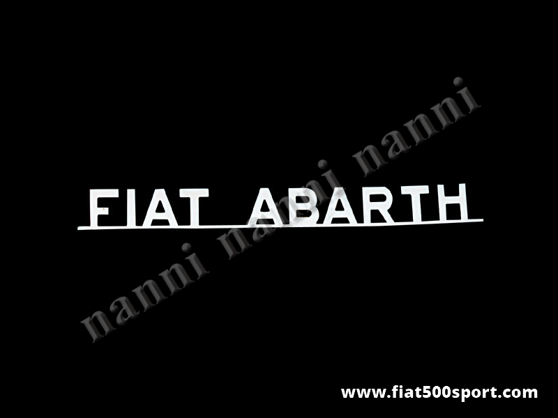 Abarth red letters water transfer decals