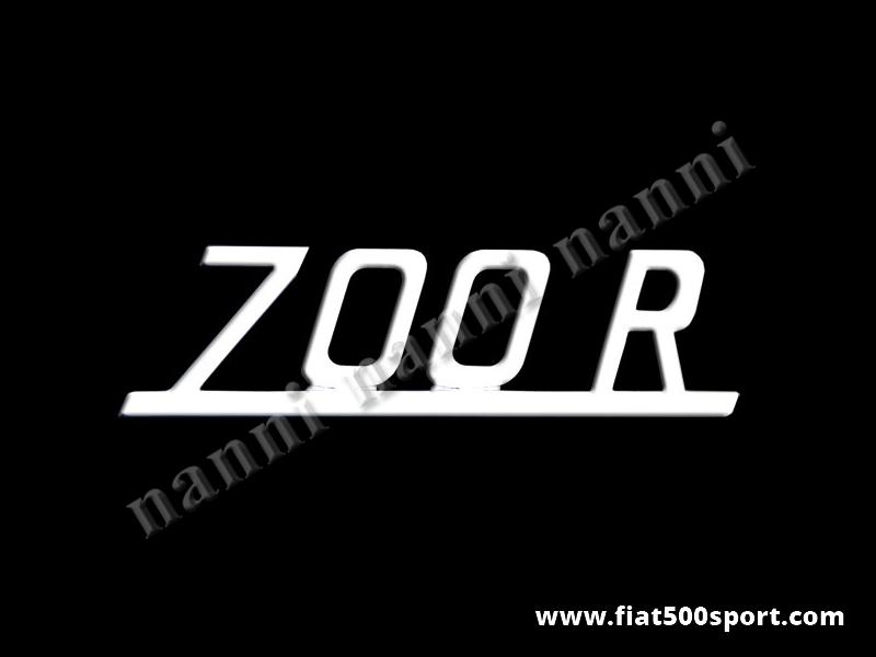 Art. 0581 - Scritta Giannini cromata 700R per cofano motore. - Scritta cromata 700R per cofano motore Giannini. Lunghezza 80 mm.