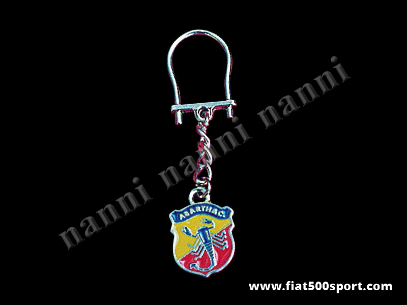 Art. 0600 - Abarth enamel key ring - Abarth enamel key ring
