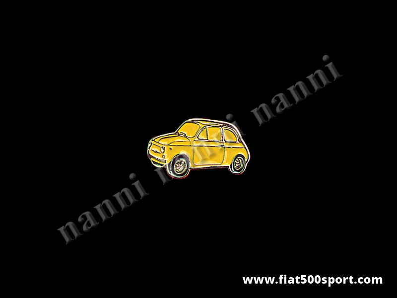 Art. 0620gia - Spilla Fiat 500 smaltata, giallo - Spilla 500 smaltata, giallo