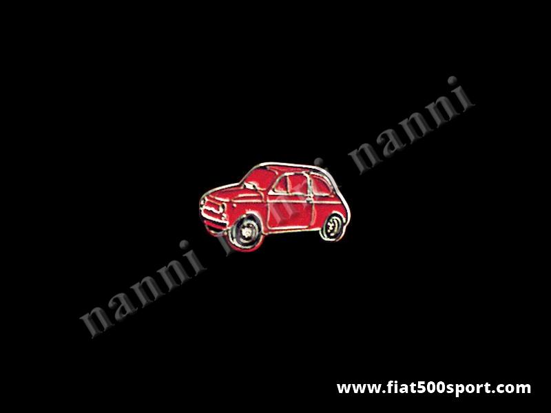 Art. 0620red - Spilla Fiat 500 smaltata, rosso - Spilla 500 smaltata, rosso