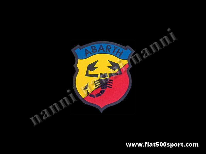 Art. 0630 - Abarth emblem shield sticker, 100 mm high - Abarth emblem shield sticker, 100 mm high