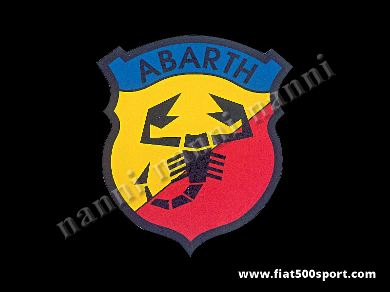 Art. 0631 - Abarth emblem shield sticker, 150 mm high - Abarth emblem shield sticker, 150 mm high
