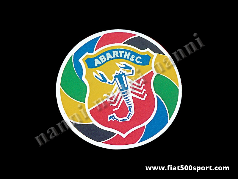 Art. 0637 - Abarth emblem rond shield sticker, Ø 60 mm - Abarth emblem rond shield sticker, Ø 60 mm