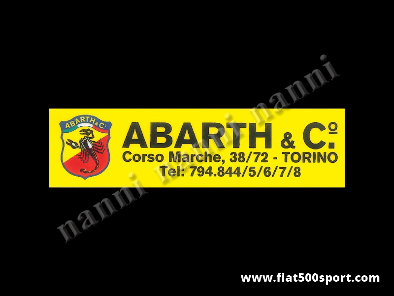 Art. 0638 - Abarth shield sticker for rear window - Abarth shield sticker for rear window