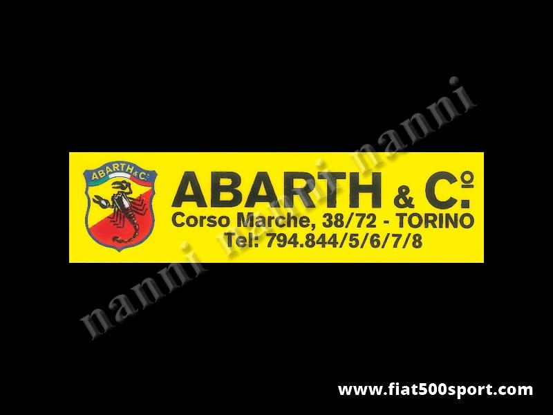 Art. 0638 - Abarth vetrofania originale per lunotto posteriore - Abarth vetrofania originale per il lunotto posteriore.