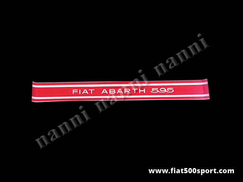 Art. 0640 - Fiat Abarth 595  side decals. Red over transparent (4 pieces) - Fiat Abarth 595 side decals. Red over transparent (4 pieces).