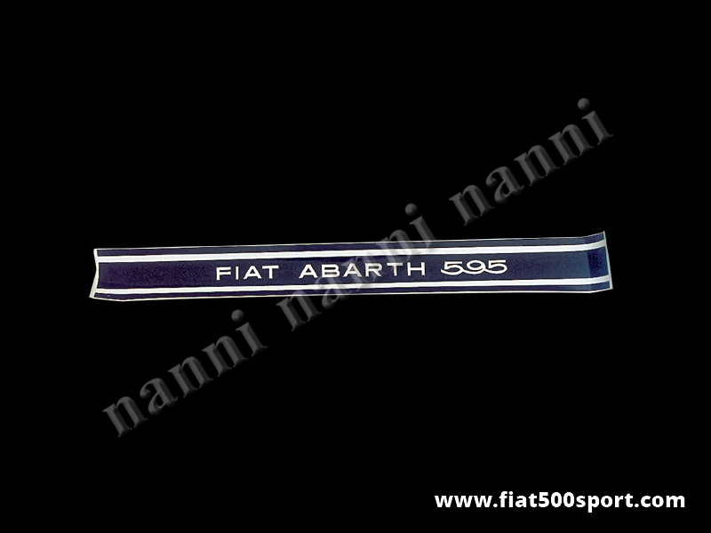 Art. 0641 - Fiat Abarth 595  side decals. Black over transparent (4 pieces) - Fiat Abarth 595 side decals. Black over transparent (4 pieces).