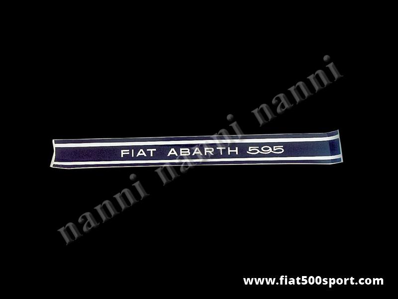 Art. 0641 - Fiat Abarth 595 strisce adesive nere per fiancate (4 pezzi) - Fiat Abarth 595 strisce adesive nere per fiancate (4 pezzi).