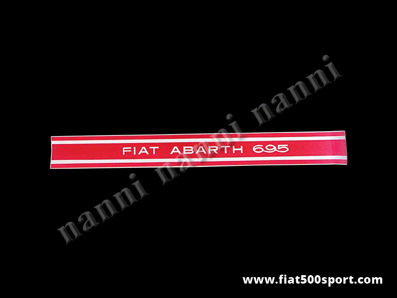 Art. 0642 - Fiat Abarth 695 strisce adesive rosse per fiancate (4 pezzi) - Fiat Abarth 695 strisce adesive rosse per fiancate (4 pezzi).