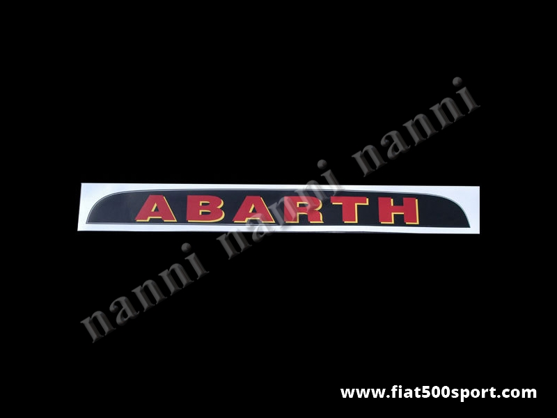 Art. 0643 - Sunshade Abarth - Sunshade Abarth
