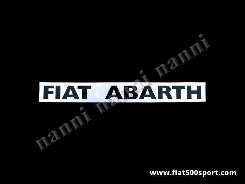 Art. 0645nero - Fiat Abarth black side decals under lateral window (2 pieces). - Fiat Abarth black side decals under lateral window (2 pieces). Total length cm. 38,5. High cm. 3,5