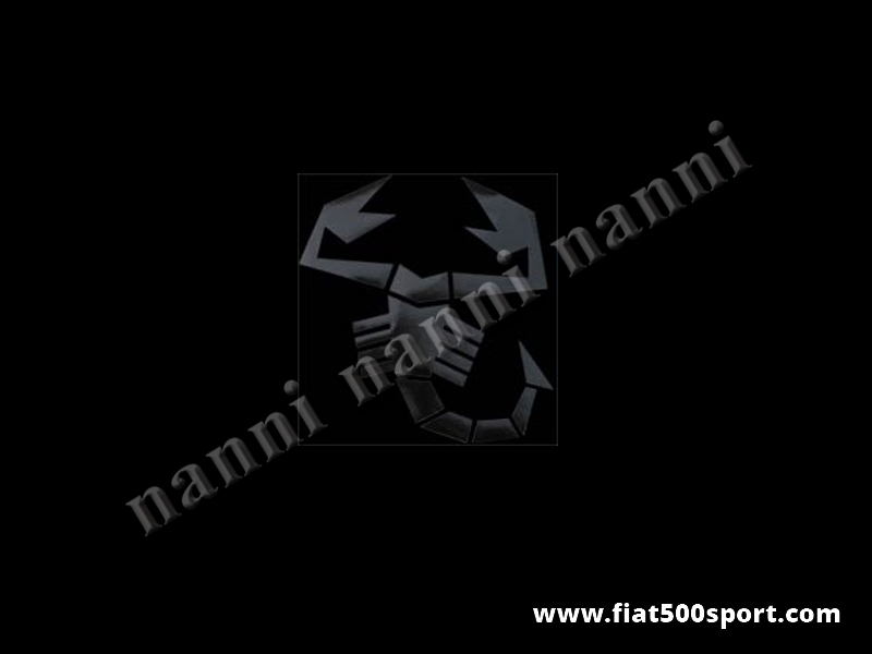 Art. 0650nero - Scorpione piccolo adesivo nero alto cm. 17 pre-spaziato che non fa spessore. - Scorpione piccolo adesivo nero alto cm. 17 pre-spaziato che non fa spessore.