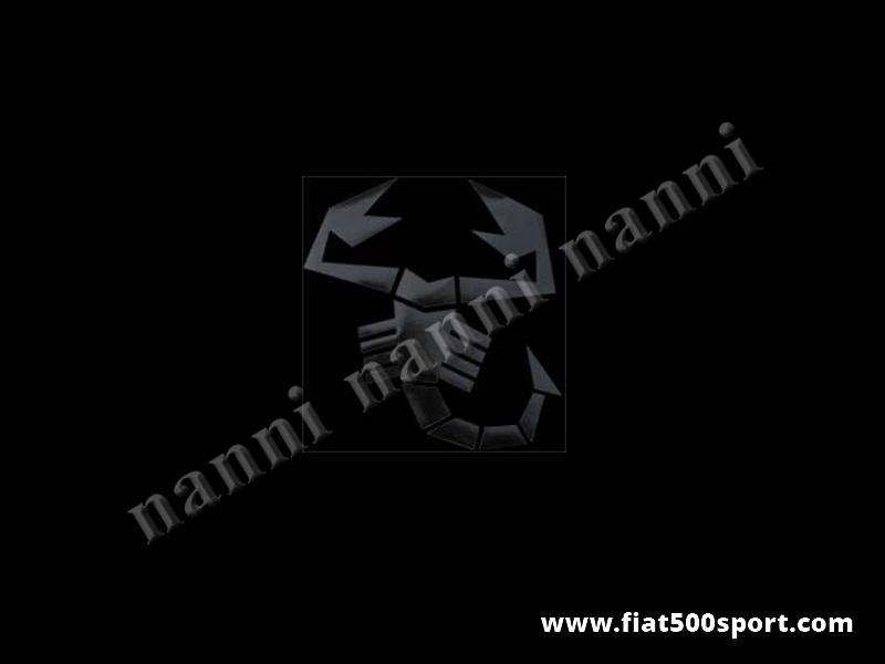 Art. 0650nero - Sticker small black scorpion 17 cm. high. - Small black scorpion sticker 17 cm. High
