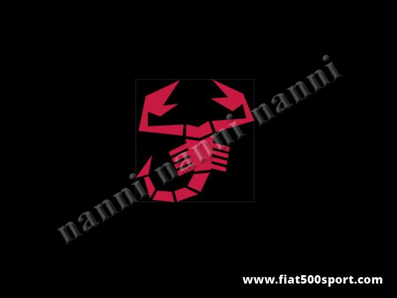 Art. 0650red - Sticker small red scorpion 17 cm. high. - Small red scorpion sticker 17 cm. High.