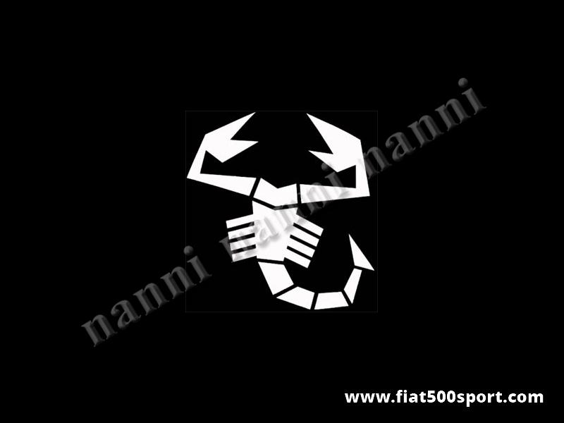 Art. 0651bia - Sticker medium white scorpion 23 cm. high. - Medium white scorpion sticker 23 cm. high.