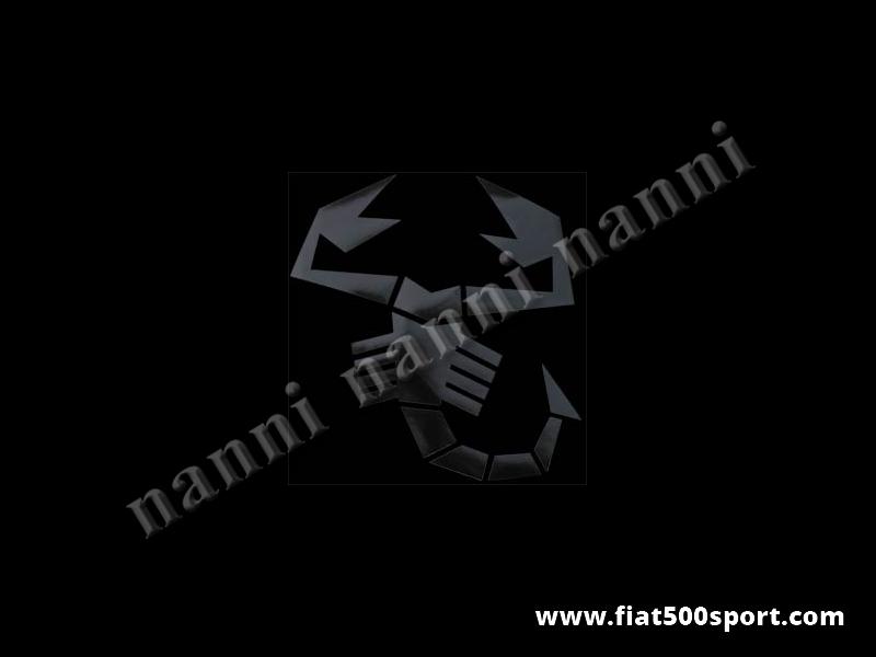 Art. 0651nero - Scorpione medio adesivo nero alto cm. 23. - Scorpione medio adesivo nero alto 23 cm. pre-spaziato che non fa spessore.