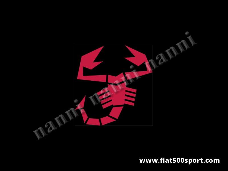 Art. 0651red - Sticker medium red scorpion 23 cm. high. - Medium red scorpion sticker 23 cm. high.