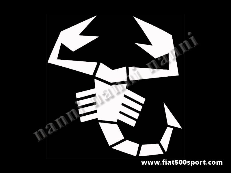 Art. 0653bia - Scorpione adesivo grande bianco alto cm. 34. - Scorpione adesivo grande bianco alto cm. 34 pre-spaziato che non fa spessore.
