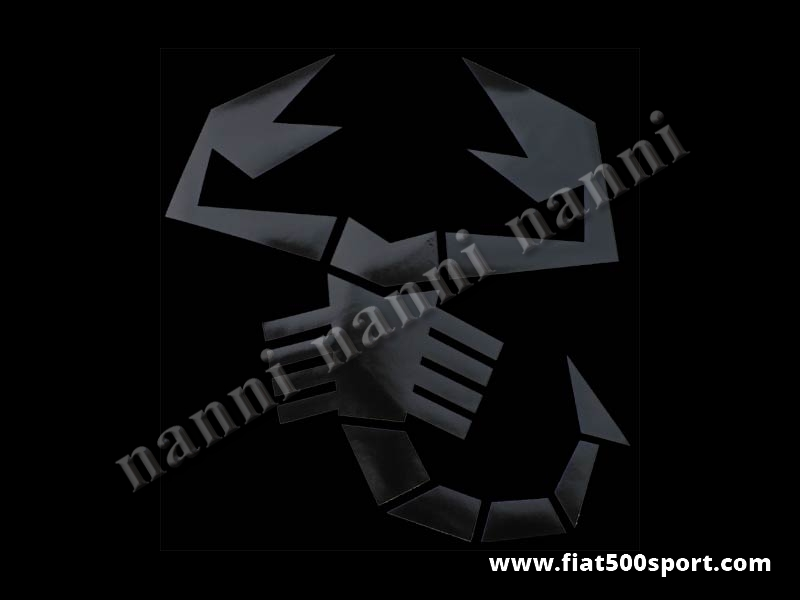 Art. 0653nero - Scorpione adesivo grande nero alto cm. 34. - Scorpione adesivo grande nero alto cm. 34 pre-spaziato che non fa spessore.