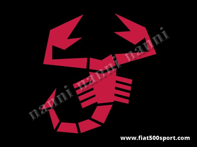 Art. 0653red - Scorpione adesivo grande rosso alto cm. 34. - Scorpione adesivo grande rosso alto cm. 34 pre-spaziato che non fa spessore.