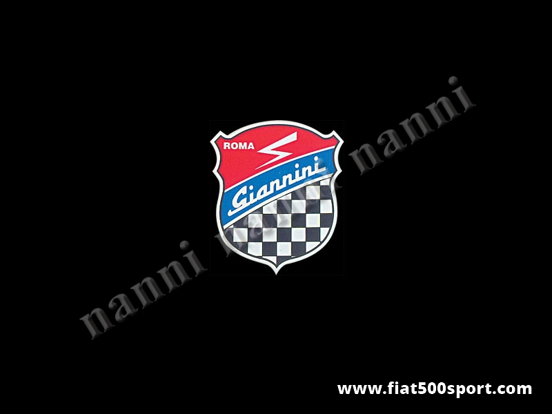 Art. 0660 - Giannini emblem shield sticker, 100 mm high - Giannini emblem shield sticker, 100 mm high