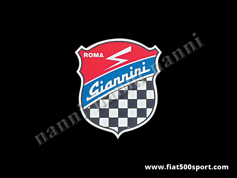 Art. 0661 - Giannini emblem shield sticker, 150 mm high - Giannini emblem shield sticker, 150 mm high