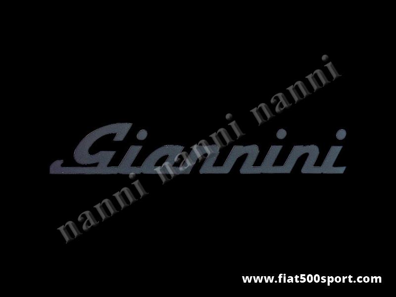 Art. 0665nero - Giannini black side decal under lateral window. - Giannini black side decal under lateral window. Total length cm. 35,5. High cm. 6,3.