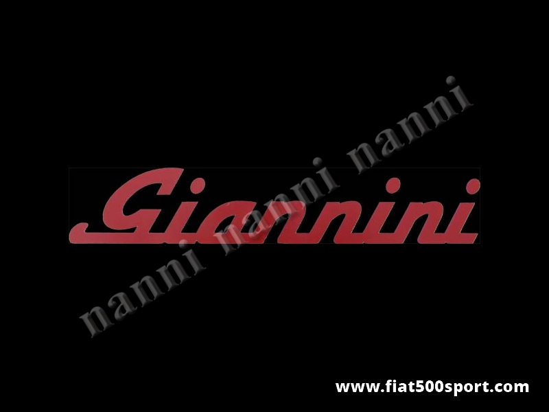 Art. 0665red - Giannini red side decal under lateral window. - Giannini red side decal under lateral window. Total length cm. 35,5. High cm. 6,3.